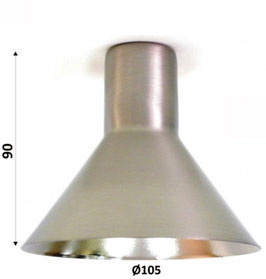 Paralume campana in acciaio opaco 90 x Ø 105 mm
