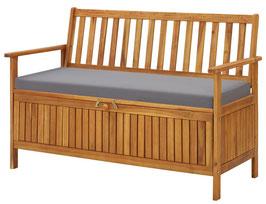 Panca legno di acacia riponi cuscini 120cm
