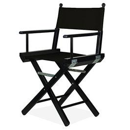 Sedia regista in bianco/nero