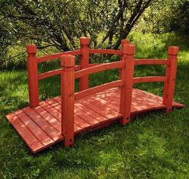 Ponte di legno rossiccio