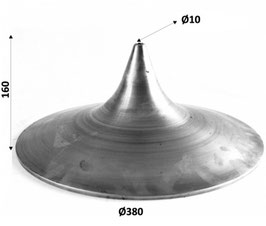 Paralume in ferro 160x380mm