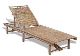Lettino schienale regolabile in bambù