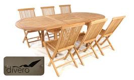 Tavolo 170/230 + 6 sedie pieghevoli