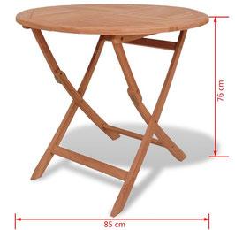 Tavolino Teak Tondo Ø85 cm