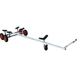 Carrello Alaggio Alluminio 400 -S Tandem doppio asse