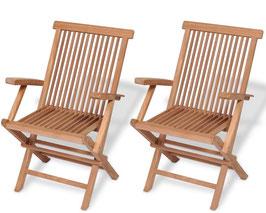 Set 2 sedie Sidney in Teak