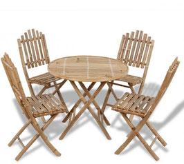 Tavolo + 4 sedie Bambù