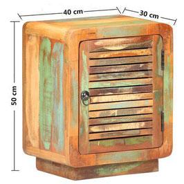 Comodino legno recupero
