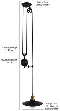 Lampadario a Puleggia contrappeso 1 lampada