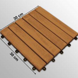 Pavimento piastrella in legno modulare di acacia 30x30