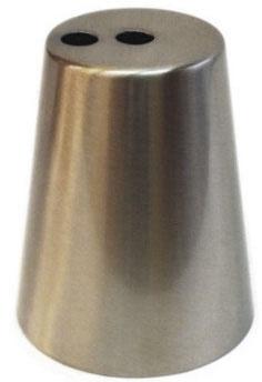 Campana acciaio opaco 90x73mm