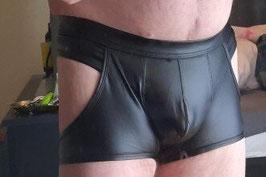 Boxershorts Bareback Läderimitation (S M L XL)