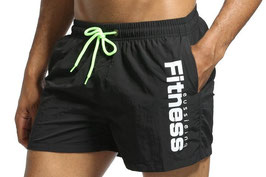 Badshorts Fitness Korta Svart (S M L)