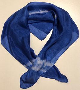 Blaues Seidentuch 70 x 70 cm