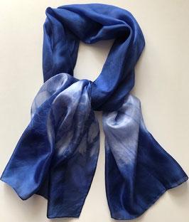 Blauer Seidenschal 135 x 35 cm
