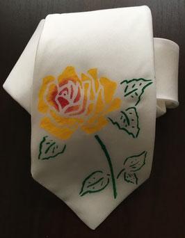 Damenkrawatte Rose gelb