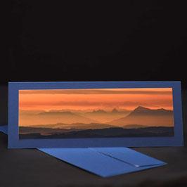 Elegance kaschmirBlau Blick vom Weissenstein Alpen mit Abendrot