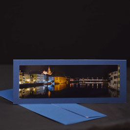 Elegance Kaschmirblau  Quer Solothurn an der Aare  Nacht