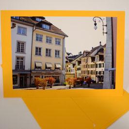 C6 friedhofplatz Frühling auf tornesol gelber karte