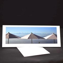 Elegance Weiss Blick vom Weissenstein in die Alpen Sonnenschirm