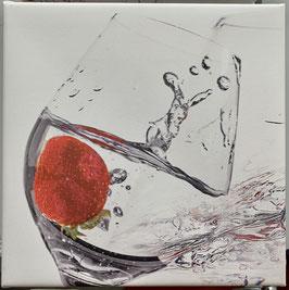 Erdbeere2/  20cm x 20 cm