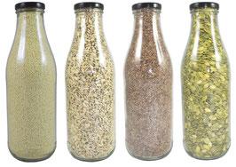 Backzutaten in der Flasche oder als Nachfüllpack (1kg - 10kg)