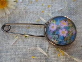 """Broche épingle , cabochon de 16 mm, 'joli printemps"""""""