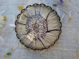 """Broche de 25 mm, """"le cœur d'une fleur"""""""
