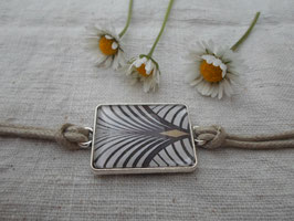 Bracelet cabochon de 25 mm, forme géométrique