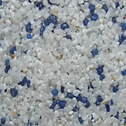 Weiß(Naturkorn)/Blau
