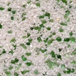 Weiß (Naturkorn) + Glas Hellgrün