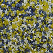 Weiß(Naturkorn)/Blau/Zitronengelb