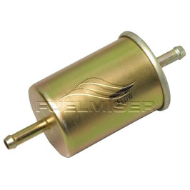 EFI Inline Fuel Filter - STR In & Out 8mm Hose Barbs
