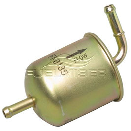 EFI Inline Fuel Filter - STR In & 90 Degree Out - 8mm Hose Barbs