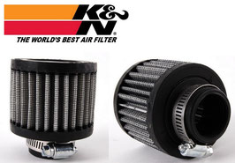 "K&N Breather Filter (4 Sizes) 1"" (25mm) - 1.25"" (32mm) - 1.5"" (38mm) Clamp On Style +1.25"" (32mm) Push On Style"