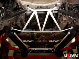 FD Honda Civic 6pt Side Lower Braces