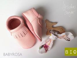 Mokassins mit Fransen in rosa