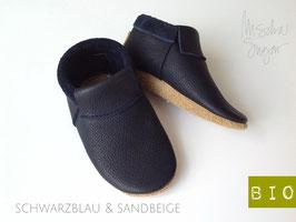 "Mokassins ""Classic"" in schwarzblau, Sohle sandbeige"