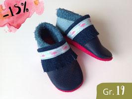 "SALE ""BOHO FRANSEN"", navy, babyblau & pink, Gr.19"