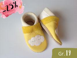 """SALE """"WOLKE"""", gelb, weiß & beige, Gr.19"""