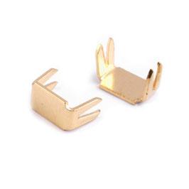 Endstücke 3mm Gold