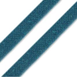 Flachkordel 10mm türkis-blau