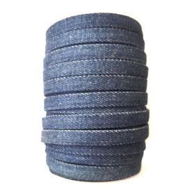 Flachkordel DENIM 10mm blau