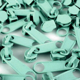 Zipper 3mm bleached aqua