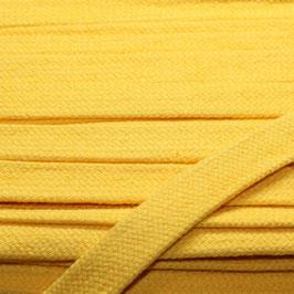 Flachkordel/Hoodieband 14mm gelb