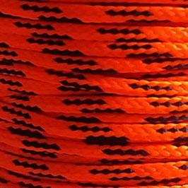 Polyesterschnur 4mm neonorange - schwarz