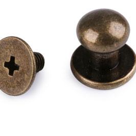 (Beil-)-Taschenknopf 7 mm Alt-Messing