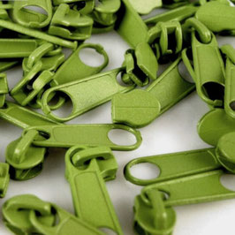 Zipper 3mm lime green