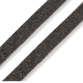 Flachkordel 10mm grau
