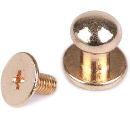 (Beil-)-Taschenknopf 7 mm Gold
